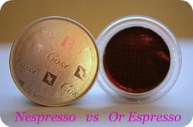 582208118 Les capsules lOr Espresso VS Nespresso!